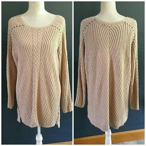 Philosophy 100% cotton sweater w/studs. 1X